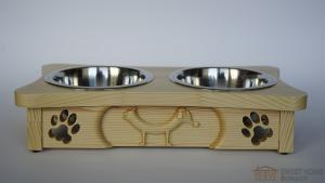 Feeder with dishes PET's BAR 3D-CatDog universal for cats and dogs