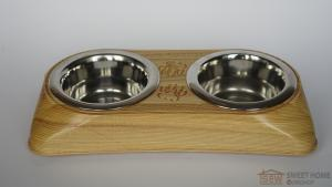 Feeder with dishes PET'S BAR for cats and dogs Universal mini