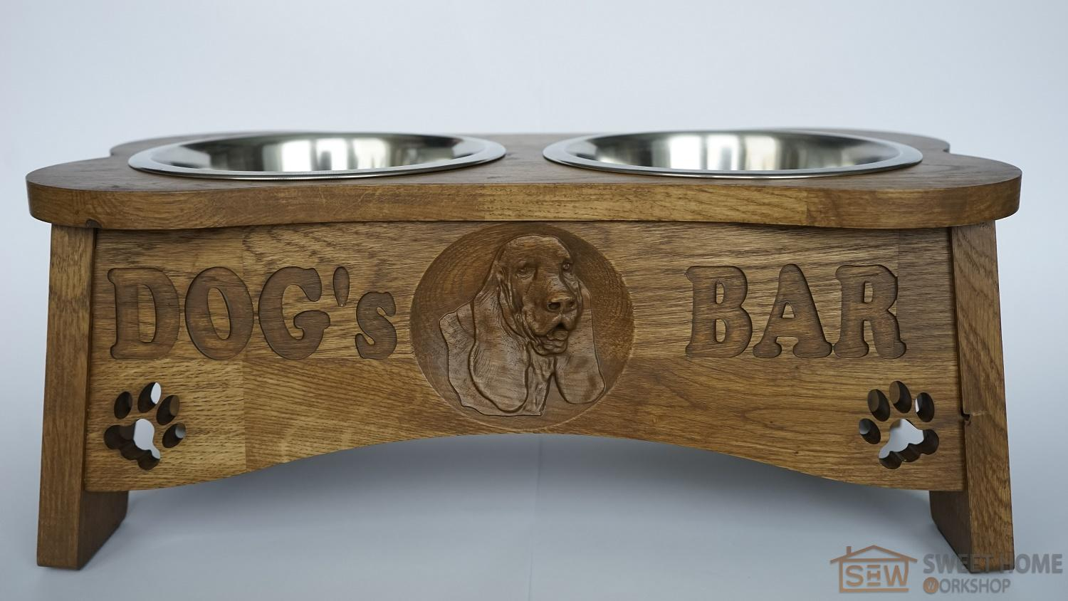 "Feeder with dishes PET's BAR for dogs ""3D dog"" - size M"