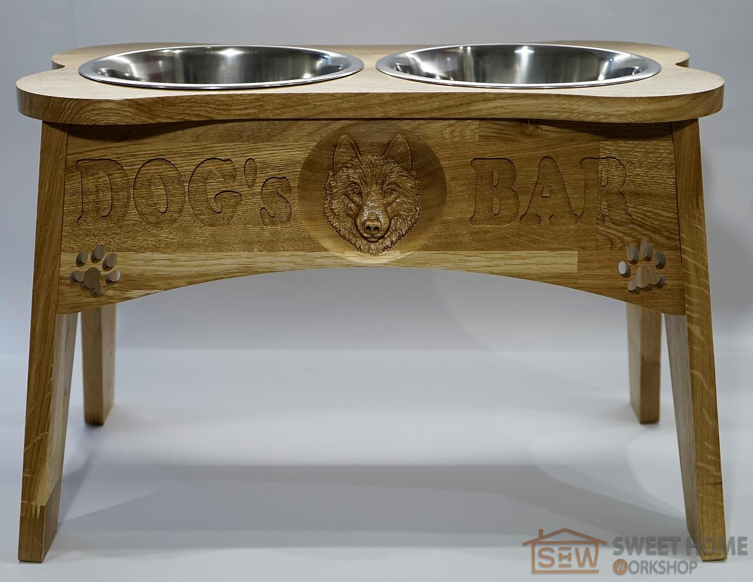 "Feeder with dishes PET'S BAR for dogs ""3D dog"" size - XL"
