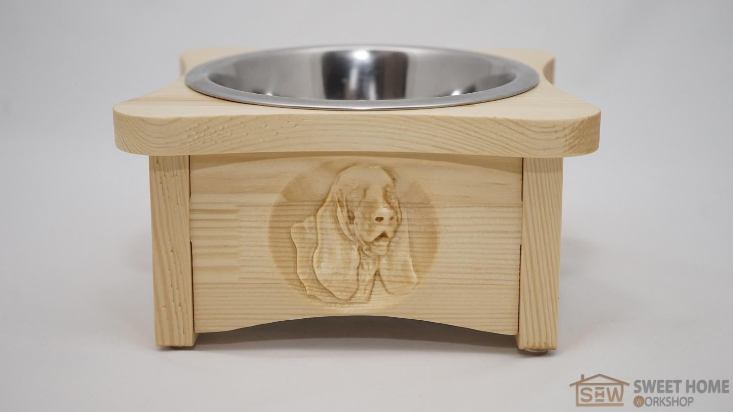Feeder for dogs PET's BAR with one dish 3D-dog - Spaniel