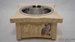 Feeder PET's BAR with one dish for cats with inscription