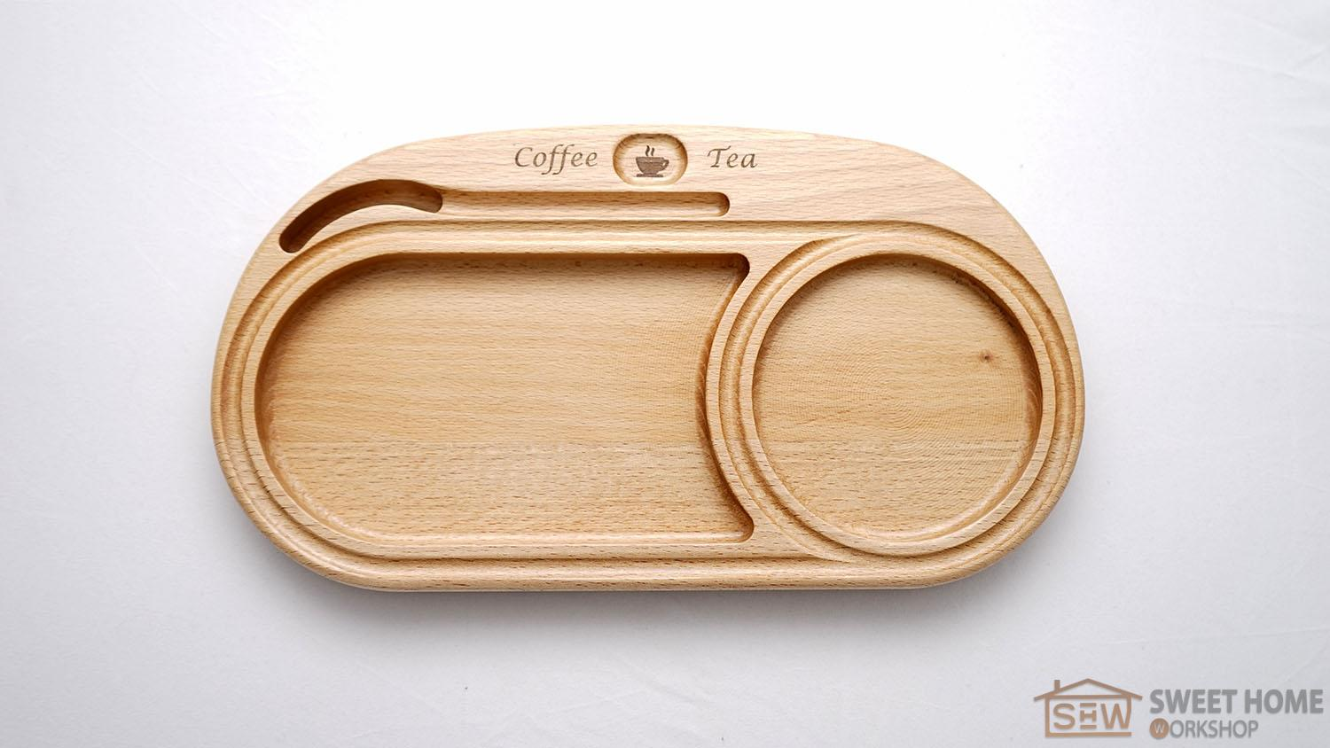 Plate for serving coffee or tea with deserts Drink Pad