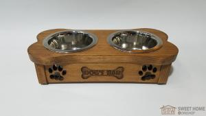 Feeder with dishes PET'S BAR for dogs Bone mini XS